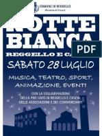 Locandina Notte Bianca 2012 a Reggello