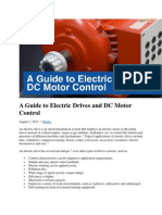 A Guide to Electric Drives and DC Motor Control