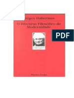 HABERMAS Jurgen O Discurso Filosofico Da Modernidade