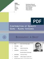Contribution of Quality Guru - Kaoru Ishikawa