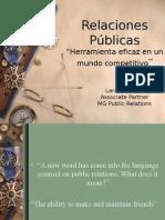 Presentación RRPP Lara Guerrero