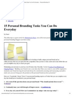 15 Personal Branding Tasks You Can Do Everyday — Personal Branding 101