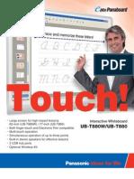 Panasonic Panaboard UB T880 Brochure