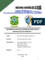 IMPLEMENTACION DE UN SISTEMA DE DETECCION DE INTRUSOS (IDC) EN WINDOWS 7