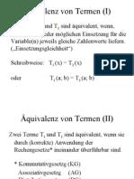Äquivalenz von Termen (I)
