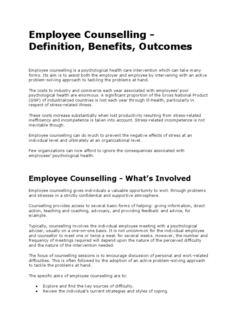 employee counseling forms