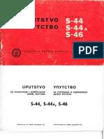 Uputstvo IMR S-44, 44A, 46