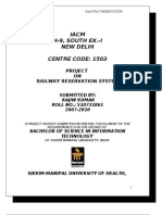 Project Report RAILWAY C | Object Oriented Programming