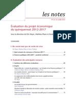 Note OFCE 23_Juillet_2012_du Social Mais Pas de Sortie de Crise