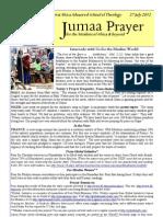 Jumaa Prayer 27 July12