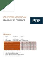 LTE - System Acquisition