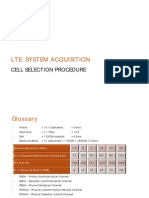 LTE - System Acquisition