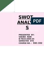 Swot Analysis Ppt