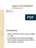 1 Nomenclature of Cycloalkanes