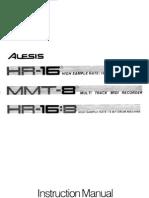 Alesis HR16 HR16B MMT8 Manual