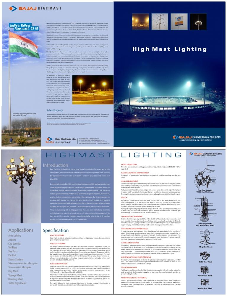 sc 1 st  Scribd & Bajaj High Mast Catalogue | Lighting | Screw