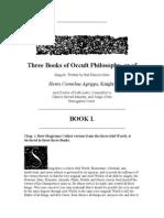 Three Books of Occult Philosophy by Heinrich Cornelius Agrippa Von Nettesheim 1
