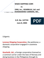 Lorenzo Shipping Case