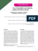 Geochemistry of Itabirite
