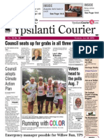 Ypsilanti Courier front page July 26