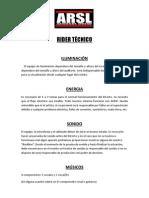 RIDER TÉCNICO - ARSL CLAN