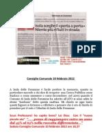 ISOLA DELLE FEMMINE Munnezza Consiglio Comunale 10 Febbraio 2012 Isola Delle Femmine