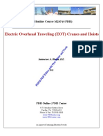 electric overhad travelling cranes