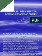 9. Relasi Kesalehan Spiritual & Kesalehan Sosial