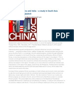 United States, China and India - A Study in South Asia Dynamics for Bangladesh