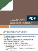 Java Script Objects(Contd) Class 3