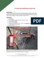 B5 TDi Driveshaft Removal