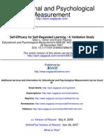 Autoeficacia y Aprendizaje Autorregulado