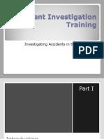 Accident Investigation Training