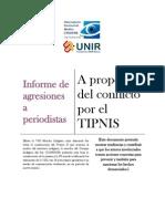Informe Sobre Agresiones a Periodistas - Caso TIPNIS Julio