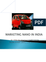 Marketing Nano in India
