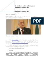 A defesa de Fábio Konder Comparato contra o Coronel Ustra, torturador militar