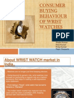 Consumer Buying Behaviour of Wrist Watches