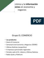 La crónica y la información de servicios en economía y negocios