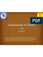 SIMS Admission