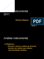 Analise Instrumental 2011 Aula 1 UV VIS