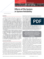 Deducing the Effects of File System Performance on System Reliability