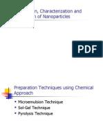 Nanoparticles Prep & App