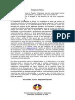 Declaración Pública tras los hechos ocurridos en Collipulli y la represión a la comunidad de temucuicui