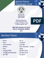 Laporan Kasus Tetanus Achmad Danial