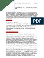 TRABAJO PRACTICO - INVESTIGACIÓN DE ACCIDENTES