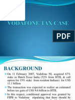 Analysis of Vodafone Case