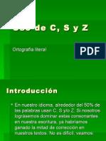 Uso de C, S y Z