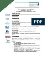 Agenda I Foro Internacional Interdisciplinario Innovando El Futuro TIC 2012
