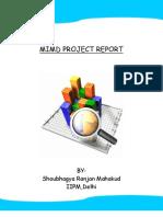 Mimd Project Report-BY SHOUBHAGYA RANJAN MAHAKUD,IIPM,DELHI