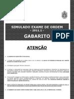 Simulado Do Exame de Ordem 20111